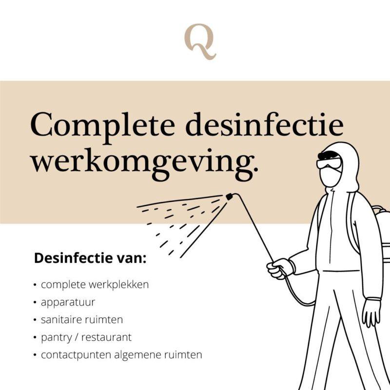 Schoonmaakbedrijf Amsterdam, korte informatie over de complete desinfectie werkomgeving