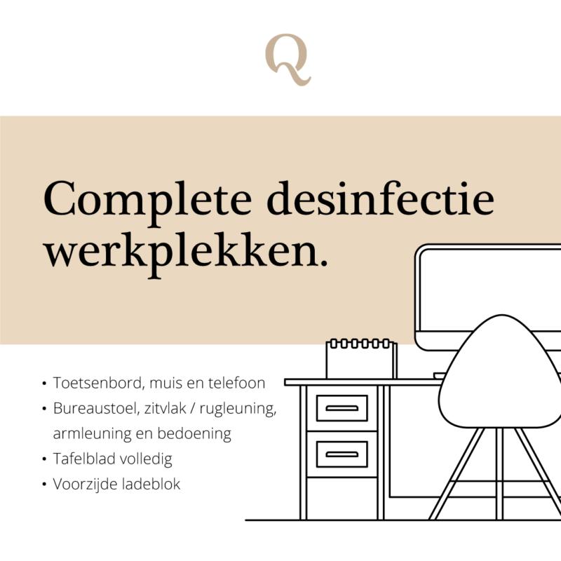 Schoonmaakbedrijf Amsterdam, kleine informatie over de complete desinfectie werkplekken.
